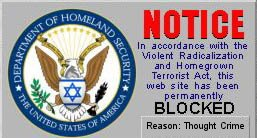 Thought Crime: Website blocked