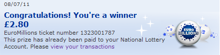Post image for I won the EuroMillions!
