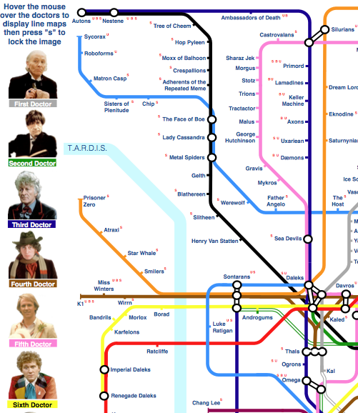 Dr Who Tube Map