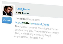 Lord Credo First Post