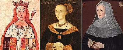 Anne Neville, Elizabeth Woodville and Margaret Beaufort